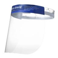 Átlátszó műanyag arcvédő maszk, pajzs, szivacsos