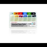 Endostar paper points - taper 04 (4%-os konicitás) - 60db, választható méretben