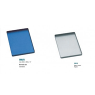 Medesy 998 285x185x15mm fém orvosi tálca, ezüst vagy kék színben