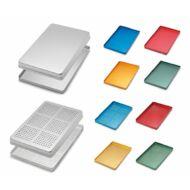 Medesy 998 285x185x15mm fém PERFORÁLT orvosi tálca, választható színben