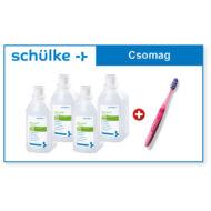 Schülke Mikrozid felület fertőtlenítő folyadék 4*1 liter + Click Teen fogkefe (R)