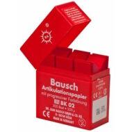 Bausch artikulációs papír piros 200