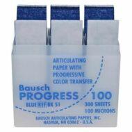 Bausch artikulációs papír kék 100