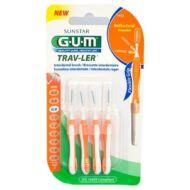 G.U.M.® fogköztisztító kefe hengeres 1412 narancs 0.9mm 4db