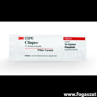3M™ Clinpro™ White Varnish fogászati lakk 10x0,5ml cseresznyés íz