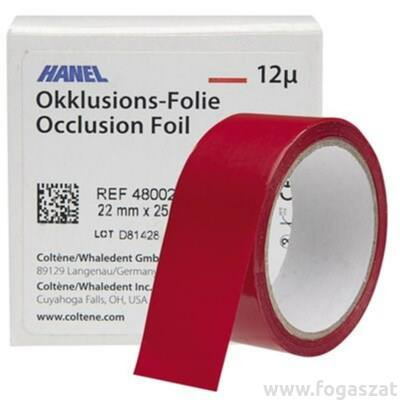 Artikulációs papír Hanel 12 mikronos 22mm piros 1 oldalas 25m