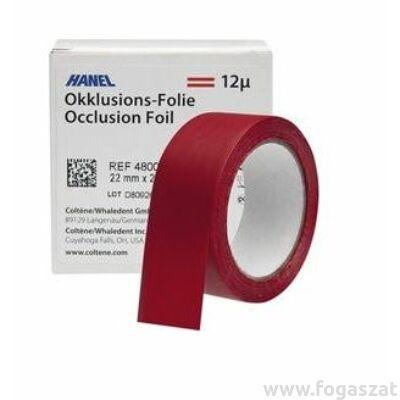 Artikulációs papír Hanel 12 mikronos 22mm piros 2 oldalas