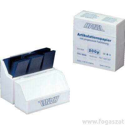 Artikulációs papír Hanel 200 mikronos kék 300db